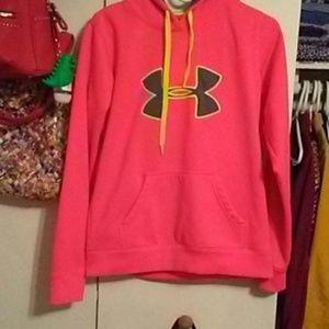 Neon under armour sweater hoodie